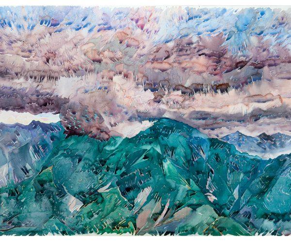 la tempestad 1991 100 x 150 cm acuarela obra artista anibal gil colombia